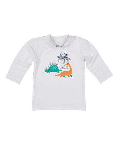 Dino Screen-Print Rashguard  Size 6-24 Months