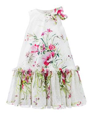 84c36d428484 David Charles Floral Satin & Chiffon Dress, Size ...
