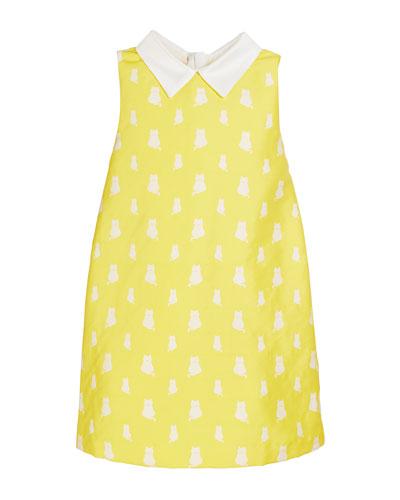 Lola Kitten Print Sleeveless Dress  Size 4-8
