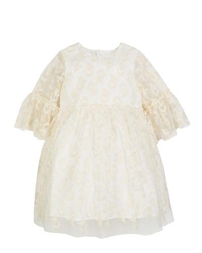 3/4-Sleeve Lace Dress  Size 2-4
