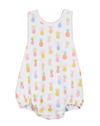 Pineapples Printed Bubble Bodysuit  Size 3-18 Months