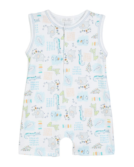 Kissy Kissy In The Jungle Sleeveless Pima Romper, Size 3-18 Months