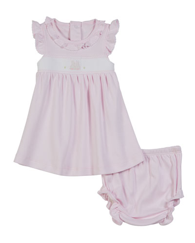 Premier Bunny Pink Dress w/ Bloomers, Size 3-18 Months