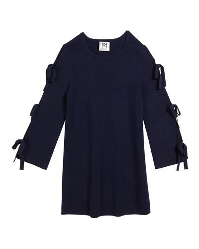 Tie-Sleeve Knit Shift Dress  Size 2T-6