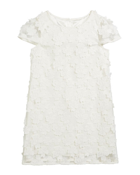 Milly Minis Chloe 3D Floral Applique Dress, Size 2T-6