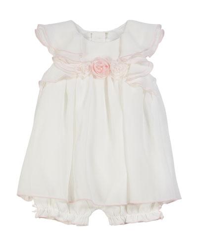Ruffle A-Line Dress Romper  Size 3-9 Months