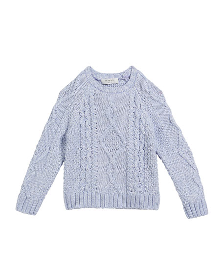 Aran Cable-Knit Pullover Sweater, Size 7-16