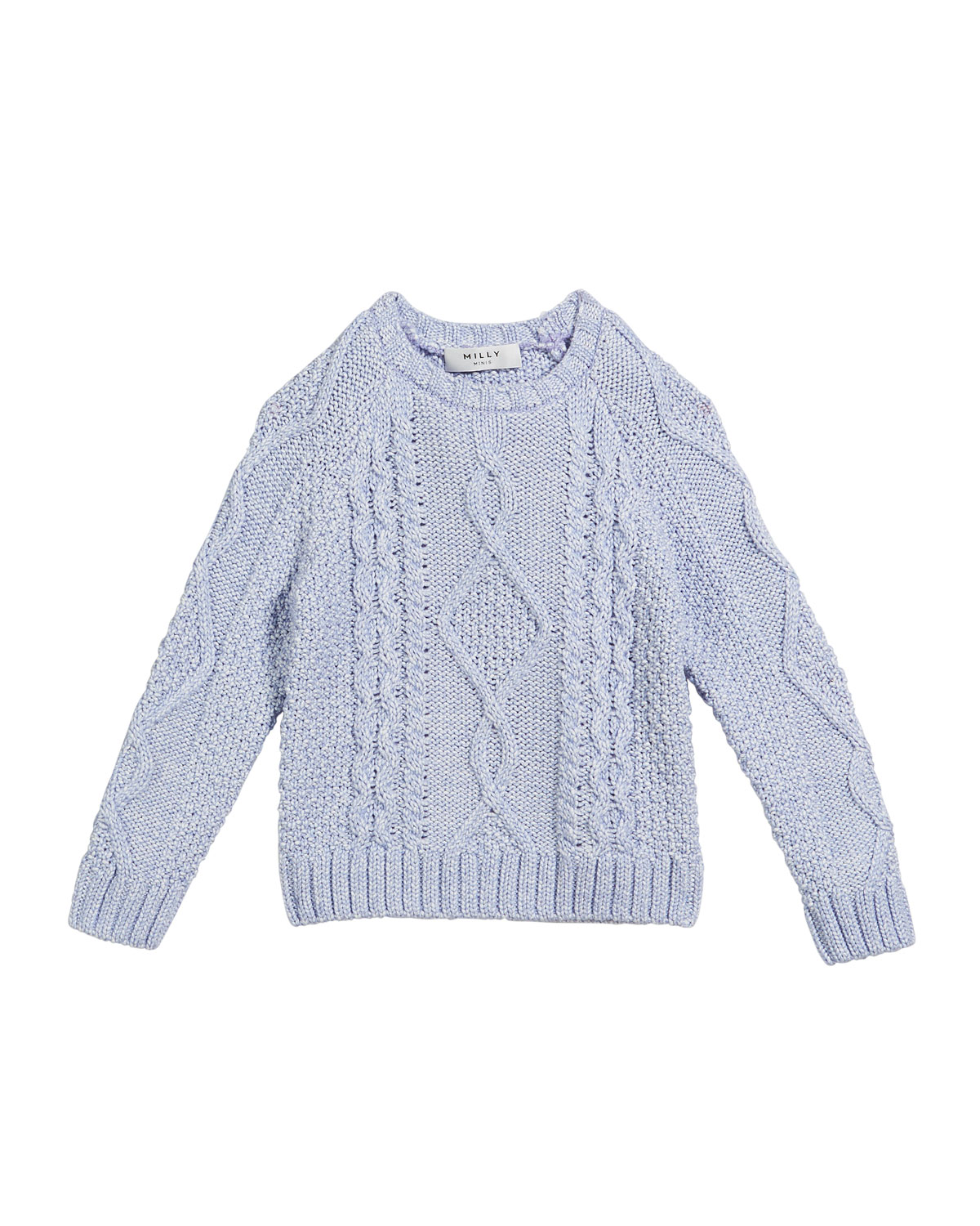 b0477f2cd32 Milly Minis Aran Cable-Knit Pullover Sweater