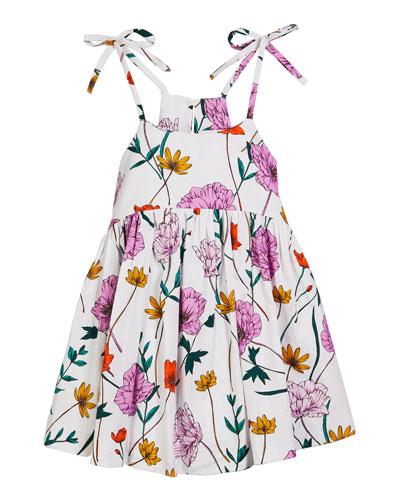 Poppy-Print Poplin Tank Dress  Size