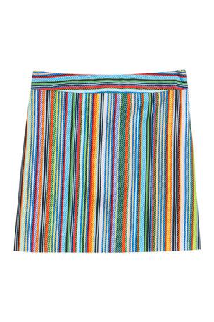 Milly Minis Multi-Stripe Modern Mini Skirt, Size 7-16