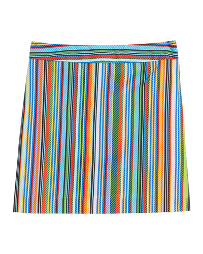 Multi-Stripe Modern Mini Skirt  Size 7-16