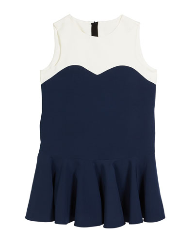 Sandy Italian Cady Colorblock Dress  Size 7-16