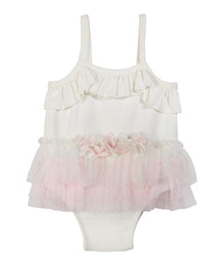 0874ecd1a271e Miniclasix Ruffle Tutu One-Piece Swimsuit, Size 3-24 Months