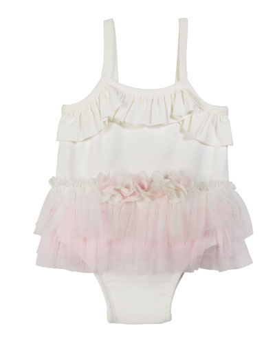 Ruffle Tutu One-Piece Swimsuit  Size 3-24 Months
