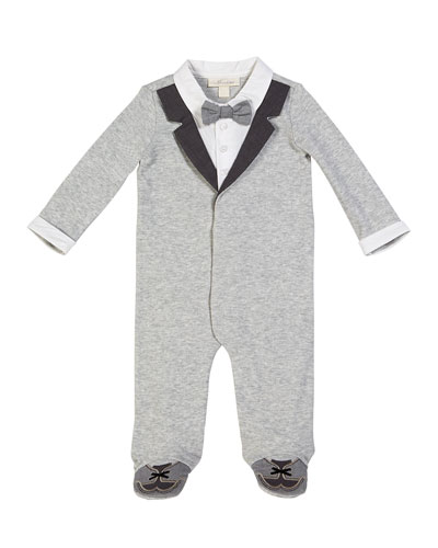 Mock Suit Footed Coverall  Size 3-9 Months