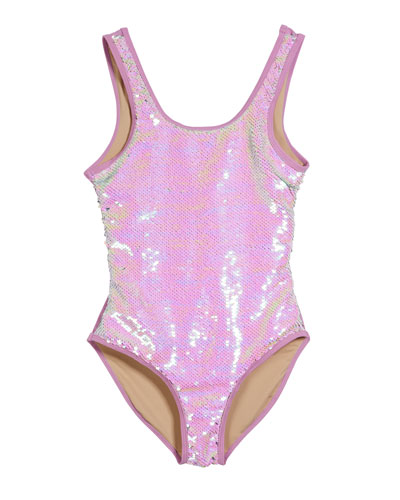 Flip Sequin One-Piece Swimsuit  Size 7-14
