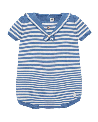 Nautical Stripe Knit Romper  Size 3-18 Months
