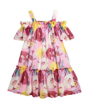 a7d5ea672a3 Mayoral Floral Print Chiffon Dress