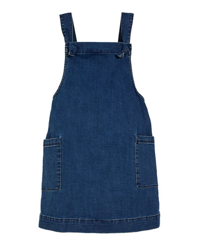 Girls' Joslyn Sleeveless Denim Dress  Size 4-6X