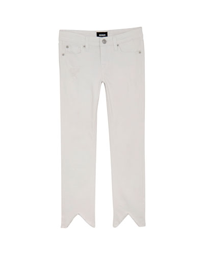 Zinnia Cropped Distressed Jeans, Size 7-16