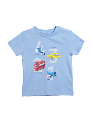 9ee0c5fd8 Mayoral Short-Sleeve Transportation Graphic T-Shirt, Size 12-36 Months