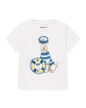 d4e2a536b Mayoral Short-Sleeve Puppy Graphic T-Shirt, Size 12-36 Months