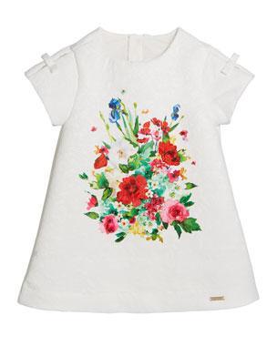 9868165cadd9f Mayoral Jacquard Floral-Print A-Line Dress