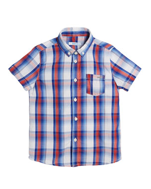 d2fd8925841 Mayoral Short-Sleeve Plaid Shirt