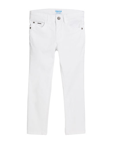 Basic Slim Fit Serge Pants  Size 4-7