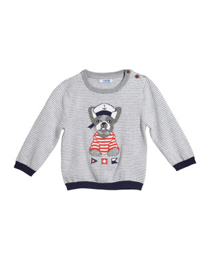 33761cfd6 Mayoral Striped Bulldog Intarsia Sweater