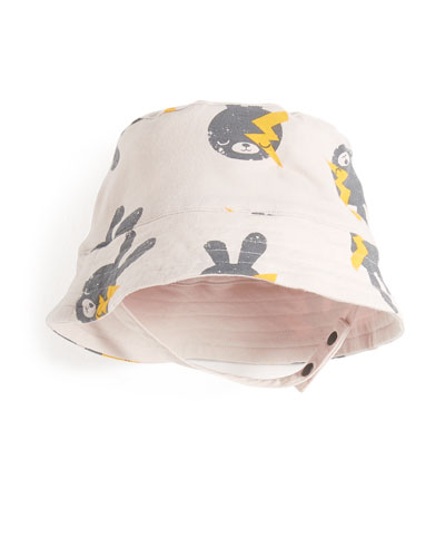 Bunny & Lightning Bolt Baby Sun Hat