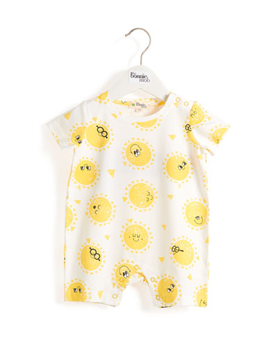 Sunshine Smiley Face Shortall  Size 0-24 Months