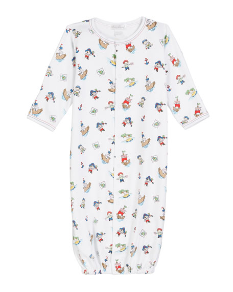 Kissy Kissy Pirate Treasure Printed Convertible Gown, Size Newborn-S