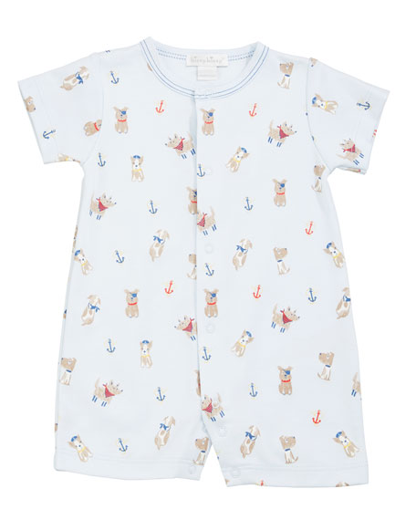Kissy Kissy Salty Dogs Printed Shortall, Size 3-24 Months