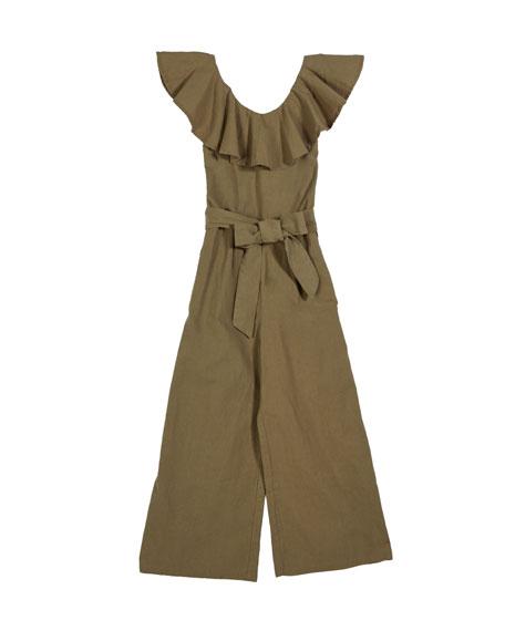 Habitual Stevie Wide-Leg Smocked Jumpsuit, Size 7-14