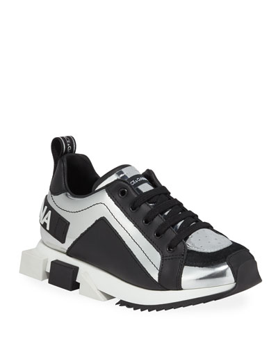 Metallic Leather Sneakers  Toddler/Kids