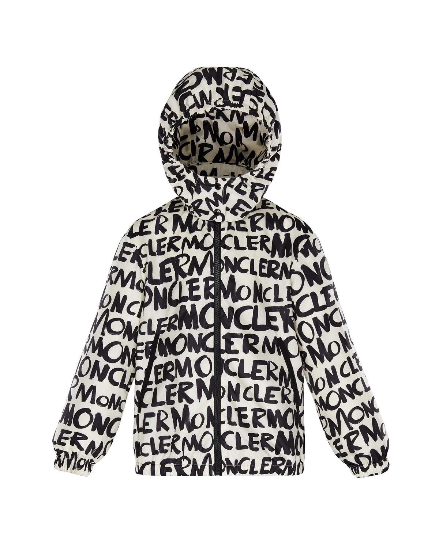 b76022fb2ea9 Moncler Logo Printed Nylon Hooded Jacket