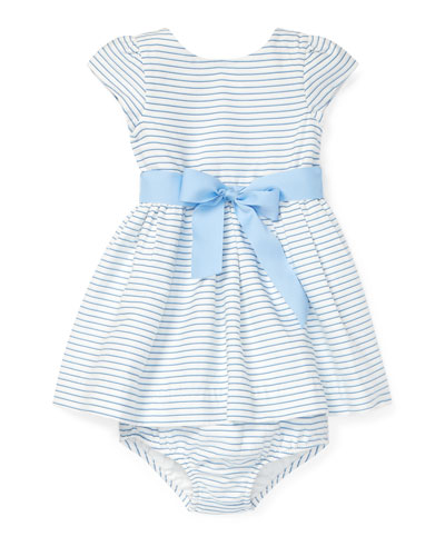 Striped Woven Dress w/ Matching Bloomers, Size 6-24 Months
