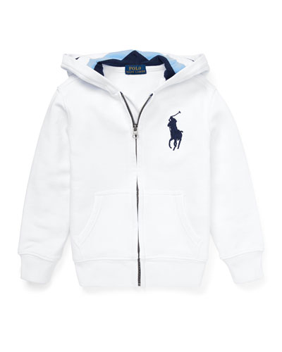Hooded Zip-Up Jacket, Size 5-7
