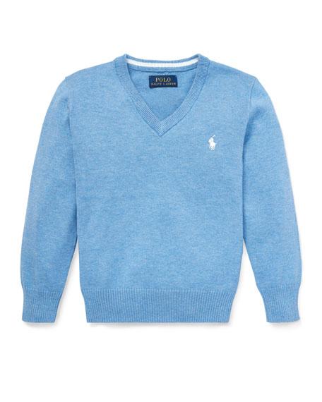 Ralph Lauren Childrenswear Lightweight V-Neck Sweater, Size 5-7