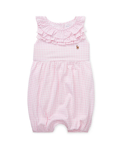Gingham Bubble Shortall, Size 3-18 Months