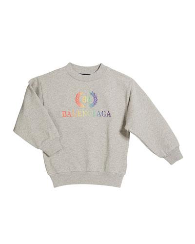 Rainbow Logo Crest Sweatshirt  Size 2-10