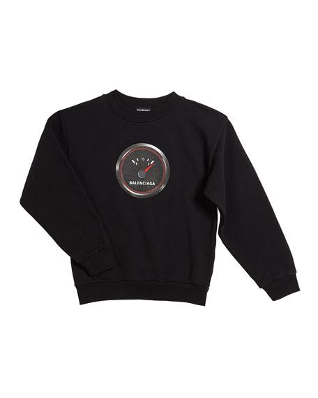 Balenciaga Gas Gauge Logo Sweatshirt, Size 2-10