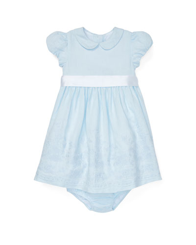 Embroidered Woven Dress w/ Matching Bloomers, Size 6-24 Months