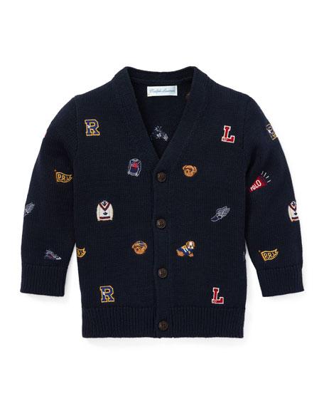 Ralph Lauren Childrenswear Collegiate Embroidered V-Neck