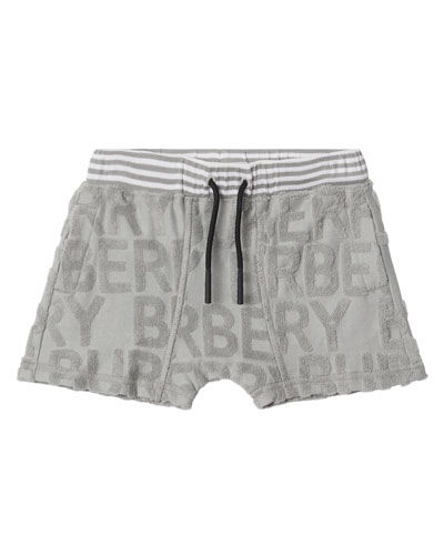 Mick Embossed Terry Logo Shorts  Size 6M-2
