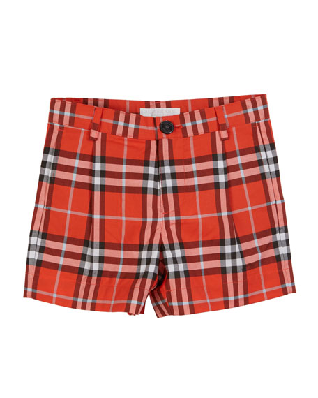 Burberry Beckett Check Shorts, Size 3-14