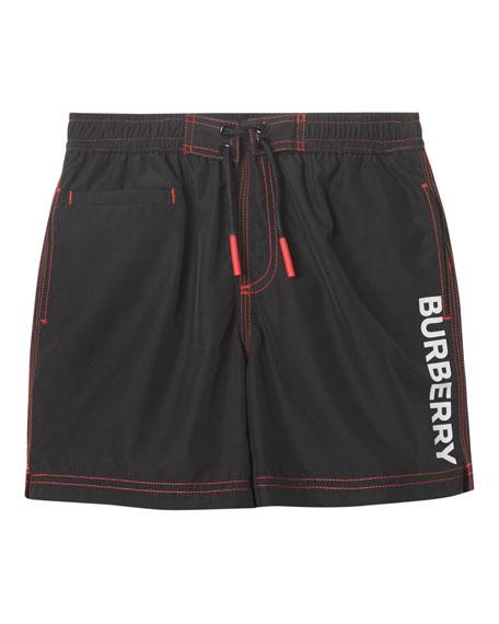 Burberry Rafael Logo Swim Trunks, Size 3-14
