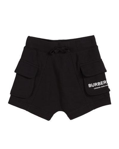 Ines Cotton Logo Shorts, Size 3-14