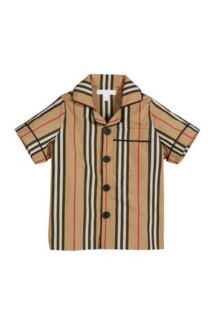 4-5Y GOTD Kid Girls Letters Printing Short Sleeve Shirt Stripe Pant Set